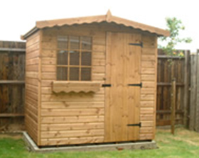 7 x 5 cabin style garden shed