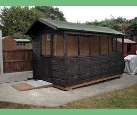 12 x 8 apex garden shed all windows