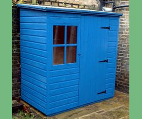 6 x 4 Pent Garden Shed With Georgian Window
