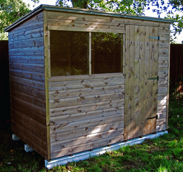 8 x 5 pent garden shed new style - Garden Sheds 8 X 5