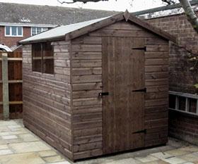 apex garden sheds