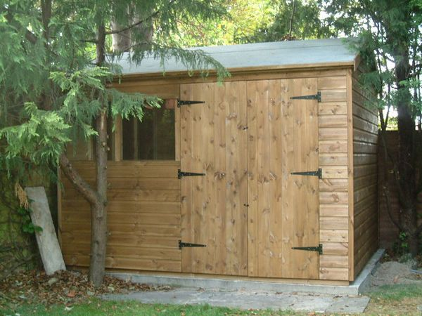 10 x 6 apex garden shed double doors in 10