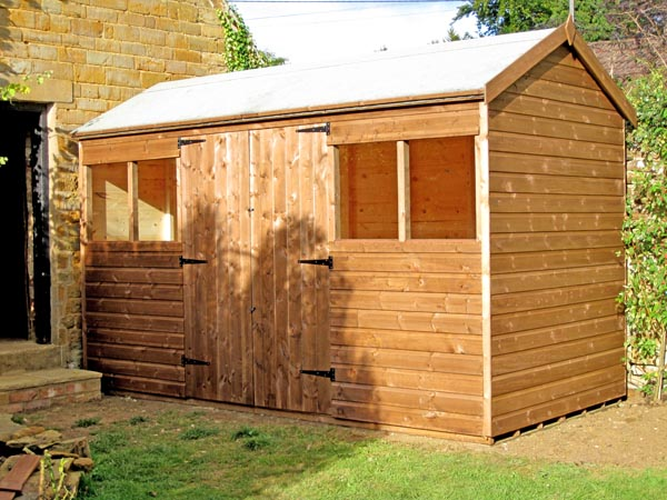 X Vinyl Garden Shed Shown With Optional Lite Prehung Door