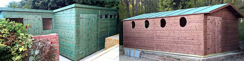 Garden Sheds in Cherry Green / Chaureth Green