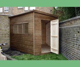 10 x 5 x 12 bespoke garden shed to fit in corner