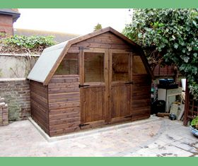 10 x 6 garden shed with dutch barn style roof