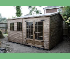 15 x 10 apex garden shed georgian windows deeper door windows