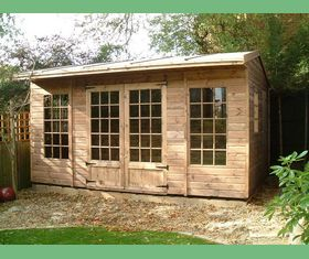 15 x 9 summehouse garden shed georgian windows small