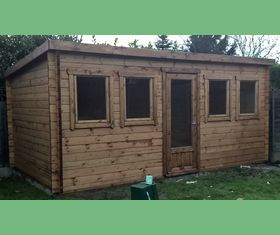 18 x 10 log cabin pent