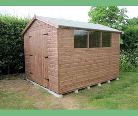 10 x 8 apex garden shed double door