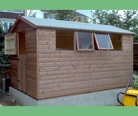 10 x 8 apex garden shed with stable door and opening windows
