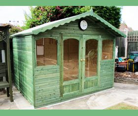 10 x 8 summerhouse arched windows green