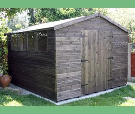 11 x 10 apex garden shed double door