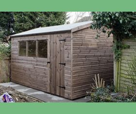 12 x 10 apex garden shed plank taller door in 12