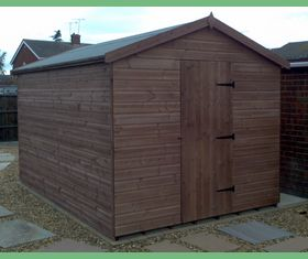 12 x 8 apex garden shed with no windows