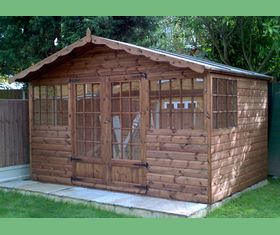 12 x 8 georgian garden shed with additional side window