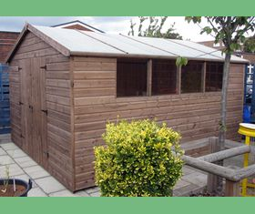 13 x 11 apex garden shed double door