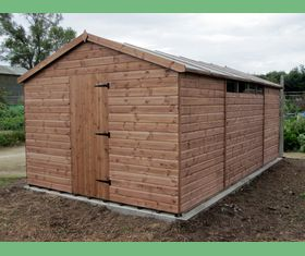 18 x 10 apex garden shed with slit windows