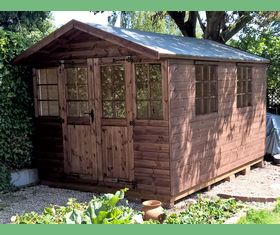 8 x 12 georgian shed with extended roof