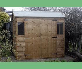 8 x 6 reversed apex garden shed