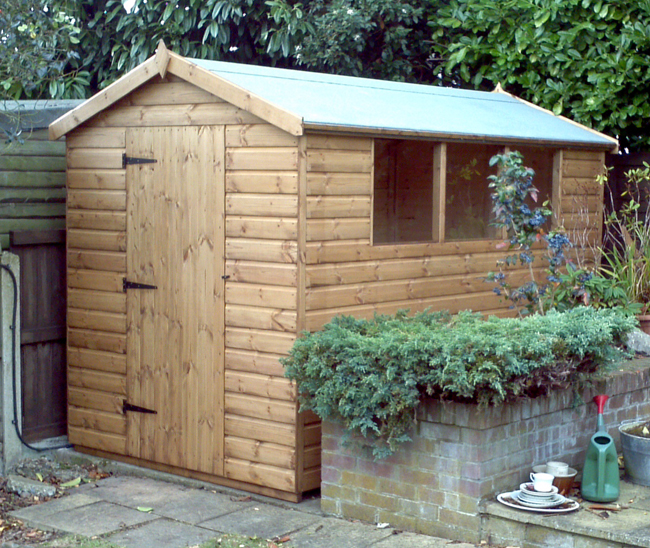 10 x 6 apex roof shed with left hand hinged door