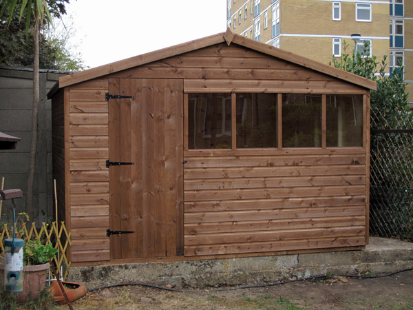 11 x 9 chalet style garden shed