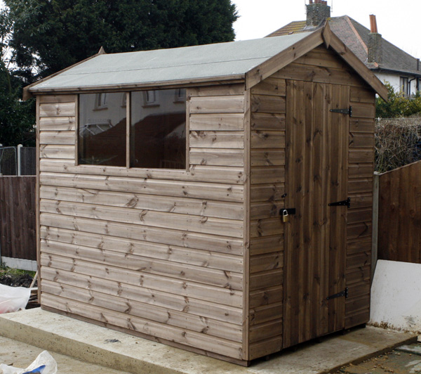 8 x 5 apex garden shed standard 600 x 400